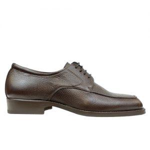 416 scarpa comoda stringata cervo marrone profilo