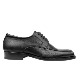 416 scarpa comoda stringata cervo nero profilo 1