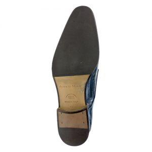 435 scarpa stringata da cerimonia anguilla blu fondo