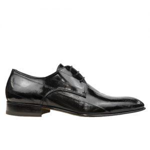 435 scarpa stringata da cerimonia anguilla nero profilo