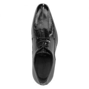 435 scarpa stringata da cerimonia anguilla nero sopra
