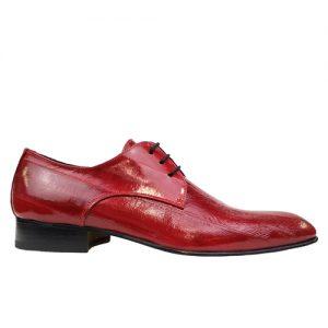 435 scarpa stringata da cerimonia anguilla rosso profilo
