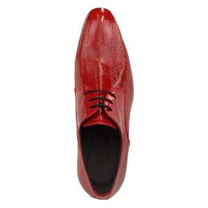 435 scarpa stringata da cerimonia anguilla rosso sopra