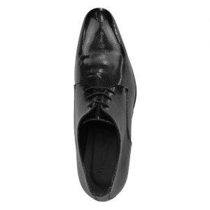 435 scarpa stringata da cerimonia vernice microforata nero sopra