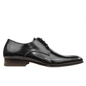 435 scarpa stringata da cerimonia vitello spazzolato nero profilo
