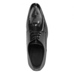 435 scarpa stringata da cerimonia vitello spazzolato nero sopra