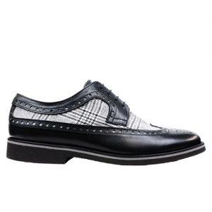 453 scarpa extralight spazzolato vitello nero tela profilo