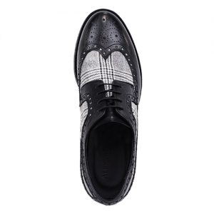 453 scarpa extralight spazzolato vitello nero tela sopra