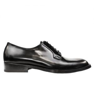 459 scarpa derby vitello spazzolato nero profilo