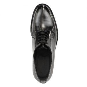 459 scarpa derby vitello spazzolato nero sopra