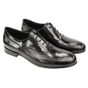463 scarpa stringata cerimnia forma inglese spazzolato nero paio