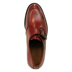 464 scarpa con fibbia vitello bruciato sopra