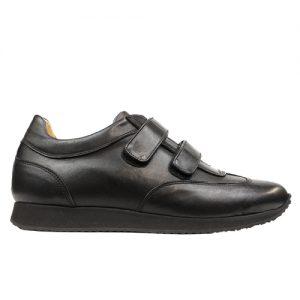 935 scarpa sportiva doppio velcro nappa nero profilo