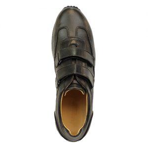 935 scarpa sportiva doppio velcro nappa nero sopra