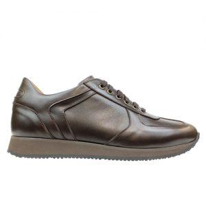 941 scarpa sportiva nappa testa di moro profilo