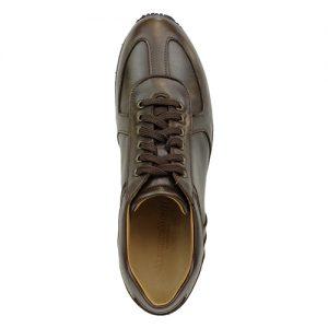 941 scarpa sportiva nappa testa di moro sopra