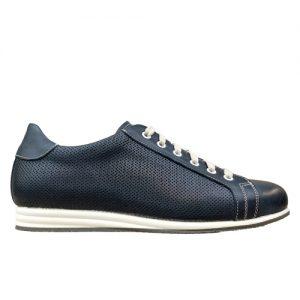 963 scarpa sportiva nappa blu microforata profilo