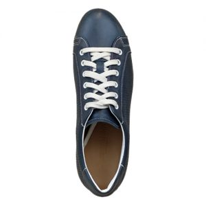 963 scarpa sportiva nappa blu microforata sopra