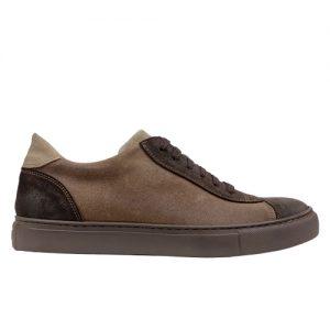 964 scarpa sportiva scamosciato marrone profilo