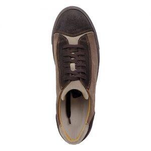 964 scarpa sportiva scamosciato marrone sopra
