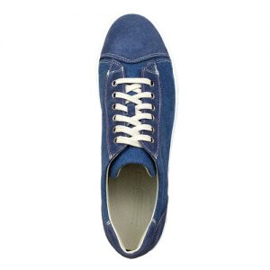 964 scarpa sportiva scamosciato piu tela blu sopra