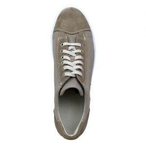 964 scarpa sportiva scamosciato piu tela sabbia sopra