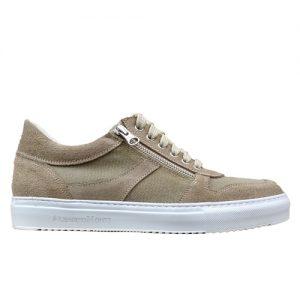 967 scarpa cerniere sportiva scamosciato sabbia tela profilo