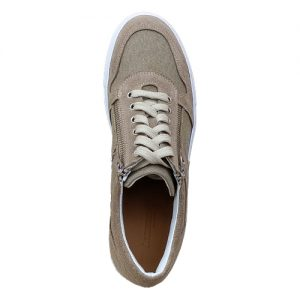 967 scarpa cerniere sportiva scamosciato sabbia tela sopra