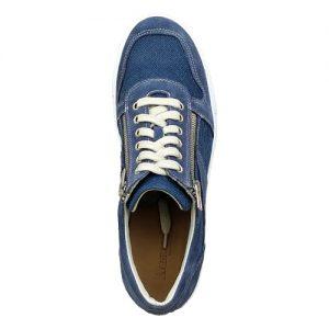 967 scarpa doppia cerniera sportiva scamosciato blu tela sopra