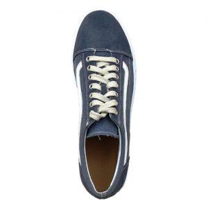 970 scarpa sportiva camoscio blu piu tela sopra