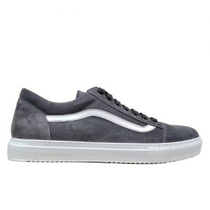 970 scarpa sportiva camoscio grigio profilo