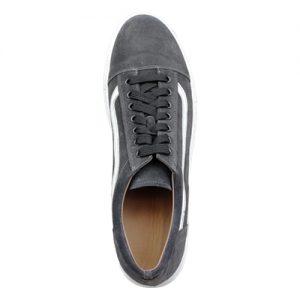 970 scarpa sportiva camoscio grigio sopra