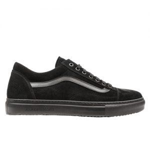 970 scarpa sportiva camoscio nero profilo