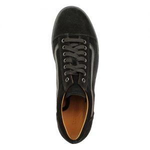 970 scarpa sportiva camoscio nero sopra