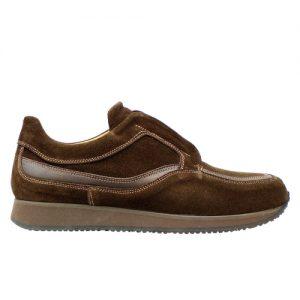 972 scarpa sportiva camoscio testa di moro profilo