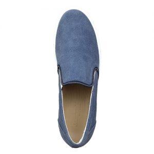 973 scarpa sportiva camoscio azzurro sopra