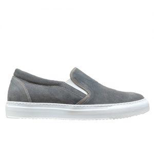 973 scarpa sportiva camoscio grigio profilo