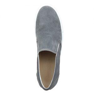 973 scarpa sportiva camoscio grigio sopra