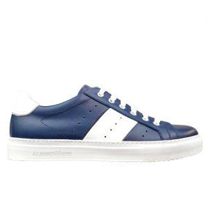 978 sneakers bluette bianco fondo cucito profilo