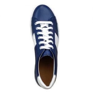 978 sneakers bluette bianco fondo cucito sopra