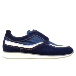 982 scarpa sportiva blu tela profilo