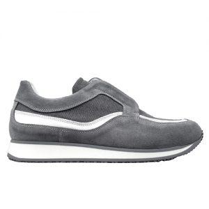982 scarpa sportiva grigio tela profilo