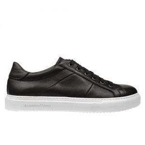 scarpa sportiva maranello nero fondo bianco profilo
