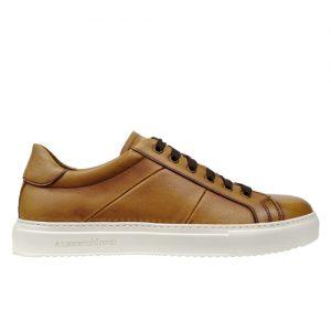 scarpa sportiva nappa cuoio profilo