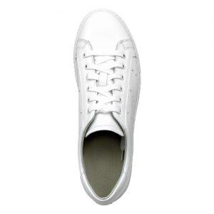 sneakers nappa bianca fondo cucito bianco sopra