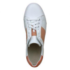 650 sneakers bianca riporto arancio donna sopra