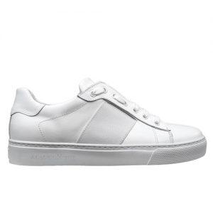 650 sneakers bianca riporto bianco donna fianco