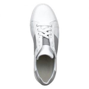 650 sneakers bianca riporto grigio donna sopra