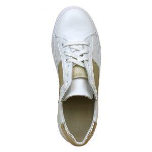 650 sneakers bianca riporto oro donna sopra
