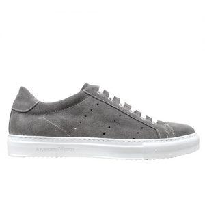 978 sneakers camoscio grigio fondo cucito profilo